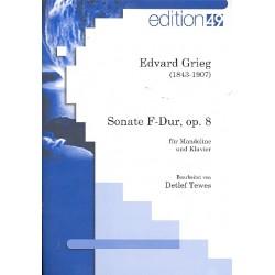 Grieg, Edvard Hagerup: Sonate F-Dur op.8 : für Mandoline und Klavier