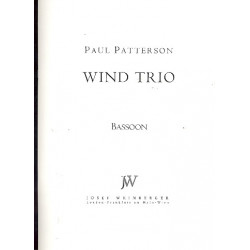 Patterson, Paul: Wind Trio op.4 : for flute, clarinet and bassoon parts