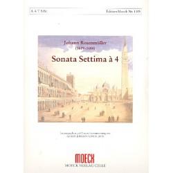 Rosenmüller, Johann: Sonata settima à 4 : für 4 Blockflöten (AATB) und Bc