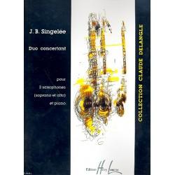Singelée, Jean Baptiste: Duo Concertant op.55 : pour 2 saxophones (SA) et piano