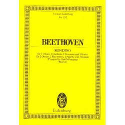 Beethoven, Ludwig van: Rondino Es-Dur für 2 Oboen, 2 Klarinetten, 2 Fagotte und 2 Hörner Studienpartitur