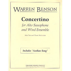 Benson, Warren: Concertino for alto saxophone and wind ensemble for alto saxophone and piano