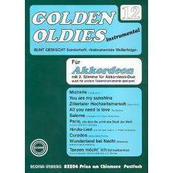 Golden Oldies Band 12 : für Akkordeon solo oder Duo oder andere Tasteninstrumente