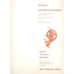 Rossini, Gioacchino: Le rendez-vous de chasse : concerto grosso et fantaisie ré majeur pour 4 cors et piano partition+parties