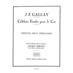 Gallay, Jacques Francois: 39 Préludes : pour le cor