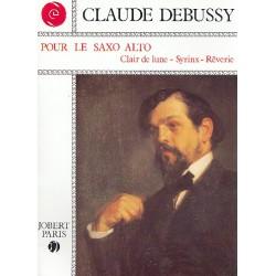 Debussy, Claude: Pour le Saxo Alto : 3 pièces pour saxophone alto et piano