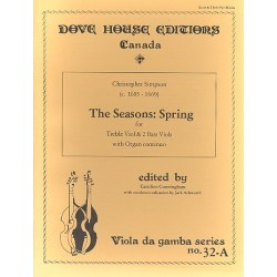 Simpson, Christopher: Spring from The Seasons : for treble viol and 2 bass viols and organ continuo parts