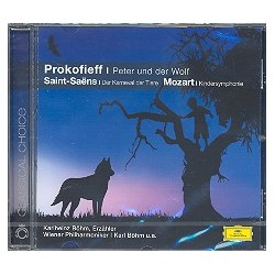 Peter und der Wolf (Prokofieff), Karnavel der Tiere (Saint-Saens) und Kindersinfonie (L. Mozart) : CD