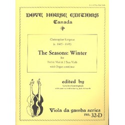 Simpson, Christopher: Winter from The Seasons : for treble viol and 2 bass viols and organ continuo