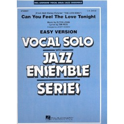 John, Elton: Can you feel the Love tonight : for jazz ensemble with vocal solo (easy version)
