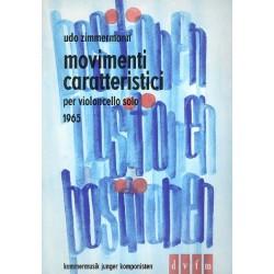 Zimmermann, Udo: Movimenti caratteristici : f├╝r Violoncelleo solo