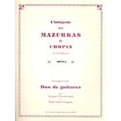 Chopin, Fr├®d├®ric: Mazurkas op.6 : pour 2 guitares partition et parties
