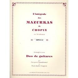 Chopin, Fr├®d├®ric: Mazurkas op.17 : pour 2 guitares partition et parties