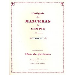 Chopin, Fr├®d├®ric: Mazurkas op.24 : pour 2 guitares partition et parties