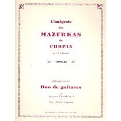 Chopin, Fr├®d├®ric: Mazurkas op.33 : pour 2 guitares partition et parties