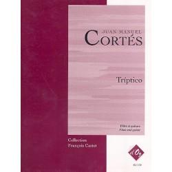Cort├®s, Juan Manuel: Triptico : pour fl├╗te et guitare partition et parties