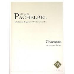 Pachelbel, Johann: Chaconne : pour orchestre de guitare partition et parties (alto guitare, 1-1-1-1, bass)