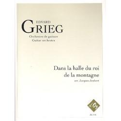 Grieg, Edvard Hagerup: Dans la halle du roi de la montagne : pour orchestre de guitare partition et parties