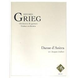Grieg, Edvard Hagerup: Danse d'Anitra : pour orchestre de guitares Partition et parties