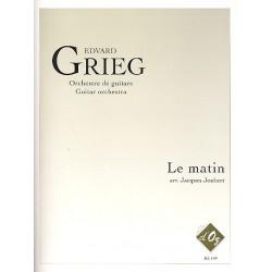 Grieg, Edvard Hagerup: Le matin : pour orchestre de guitares partition et parties