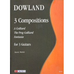 Dowland, John: 3 Composizioni : for 3 guitars score and parts