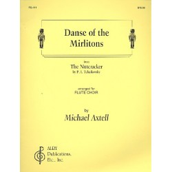 Tschaikowsky, Peter Iljitsch: Dance of the Mirlitons from The Nutcracker : for flute choir score+parts