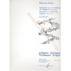 Allard, Maurice: Variations sur un thème de Paganini : pour basson seul
