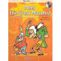Meet the great Masters (+CD) : f├╝r Blockfl├Âte in C