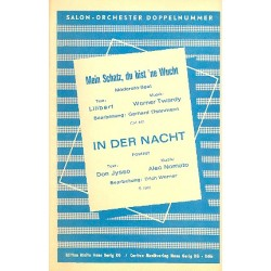 Twardy, Werner: Mein Schatz du bist 'ne Wucht und In der Nacht : für Salonorchester