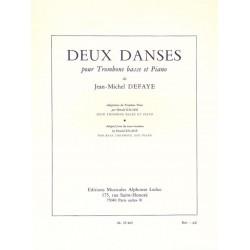 Defaye, Jean-Michel: 2 Danses : pour trombone basse et piano