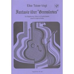 Tober-Vogt, Elke: Fantasie über Greensleeves für Singstimme, Flöte und Zupforchester, Partitur