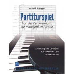Stenger, Alfred: Partiturspiel : Anleitung und Übungen für Unterricht und Selbststudium Von der Kammermusik zur mittelgroén