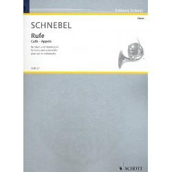Schnebel, Dieter: Rufe : für Horn und Violoncello 2Spielpartituren
