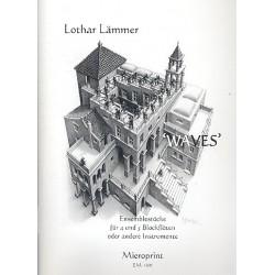 L├ñmmer, Lothar: Waves : Ensemblest├╝cke f├╝r 4 und 5 Blockfl├Âten in C oder andere Instrumente Partitur