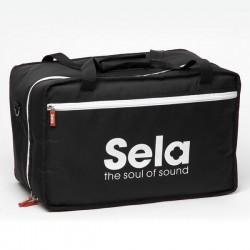 Sela Cajon Tasche schwarz 30x31x50 cm mit Seitentasche, Tragegriffen und Schultergurt