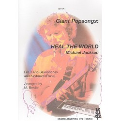 Jackson, Michael: Heal the World : for 3 alto saxophones and keyboard (piano)