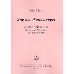 Muth, Fritz: Zug der Wandervögel : für Piccolo, Akkordeon und Zupforchester Stimmensatz (je 1x)