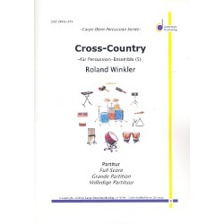 Winkler, Roland: Cross-Country : f├╝r Cowbell, Tambourine, Snare Drum, Floor Tom und Crash Cymbal, Partitur und Stimmen
