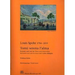 Spohr, Louis: Torni serena l'alma WoO76 : für Tenor, Violine und Orchester Klavierauszug und Violinstimme (ohne Tenorstimme!)