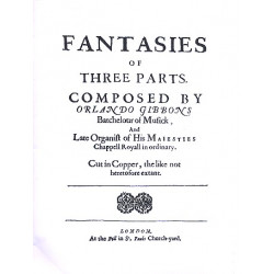 Gibbons, Orlando: 9 Fantasies of 3 Parts (+CD-Rom) : for 3 viols (other instruments) score and downloadable parts