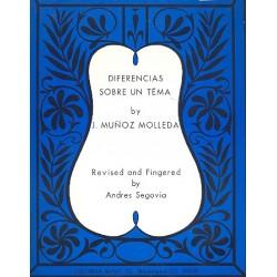 Munoz Molleda, José: Differencias sobre un tema : for guitar Segovia, A., rev.