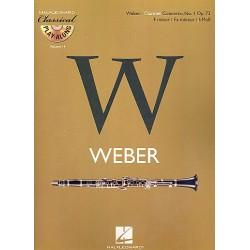Weber, Carl Maria von: Konzert f-Moll op.73 für Klarinette und Orchester (+CD) : für Klarinette