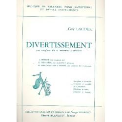 Lacour, Guy: Divertissement : pour saxophone alto et 6 percussionists partition