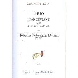 Demar, Johann Sebastian: Trio concertantt op.40 : für 2 Hörner und Harfe Stimmen