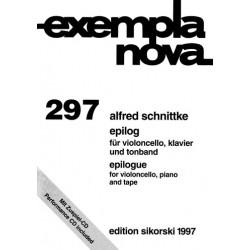 Schnittke, Alfred: Epilog für Violoncello, Klavier und Tonband