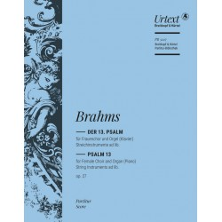 Brahms, Johannes: Psalm 13 op.27 : für Frauenchor und Orgel Partitur (dt)