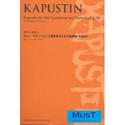Kapustin, Nikolai: Concerto op.50 for alto saxophone and orchestra study score