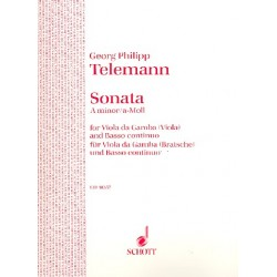 Telemann, Georg Philipp: Sonata a minor : for viola da gamba and harpsichord