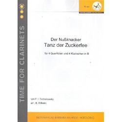 Tschaikowsky, Peter Iljitsch: Tanz der Zuckerfee : f├╝r 4 Fl├Âten und 4 Klarinetten Partitur und Stimmen