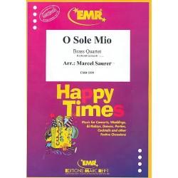 O Sole Mio : für 4 Blechbläser (Keyboard ad lib) Partitur und Stimmen